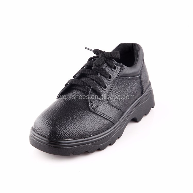 Wholesale facroty price Safety Footwear PU Leather black safety men Shoes