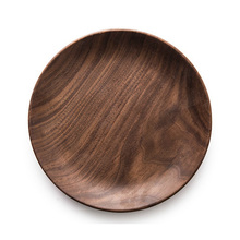 round wooden plates black walnut wood serving dishes for sale