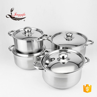Best selling product 8PCS stainless steel cookware with heat resistant handle