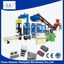 High capacity QT12-15 hydraulic Concrete hollow and paver brick making machine