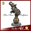 Garden Decoration Playing Ball Bronze Elephant Sculpture