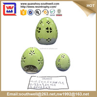 Colorful egg candle holder ceramic Easter Gift and easter egg shape gift and egg shape items for home decoration