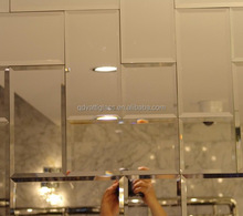 Widely used beveled edge mirror tile small size beveled edge furniture mirror