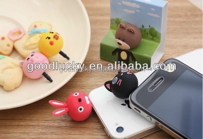Low price hot sales promotional gift mobile phone pvc dust plug