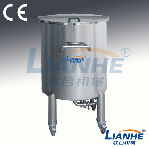 Lianhe machinery got CE, GMP, ISO9001 approved Stainless steel storage tank/hair gel storage tank