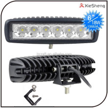 18w ip68 10-30V spot flood light beam 4WD off road led light bar for truck
