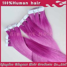 Newness high quality 100% human hair superb look micro bead hair extensions pink