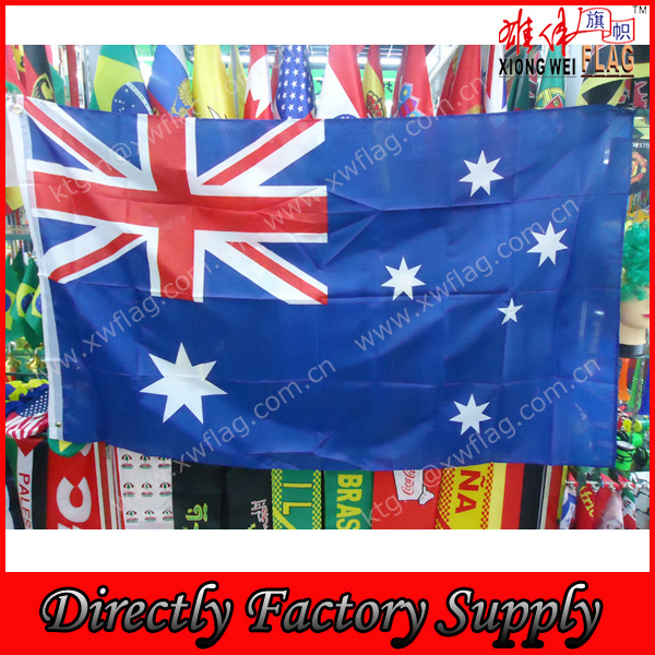 High Quality Polyester 90x180cm Australia National Flag