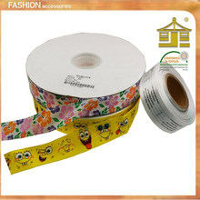 Double faced polyester satin 75mm custom wholesale gift boutique christmas paw print jacquard grosgrain ribbon