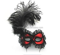 feather mask factory supply nice feather mask for party decoration