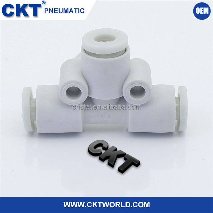 China Wholesale tee joint tube / pipe connector/ KJT 3-6mm Pneumatic Fitting