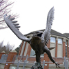 Outdoor Decoration Cheap Life Size Bronze Eagle Hunting Sculpture