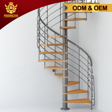 Second Hand Outside Exterior Outdoor Used Metal Small Steel Wooden Spiral Staircase For Sale
