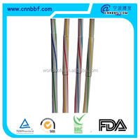 color plastic flexible disposable fun decorate art drinking straw