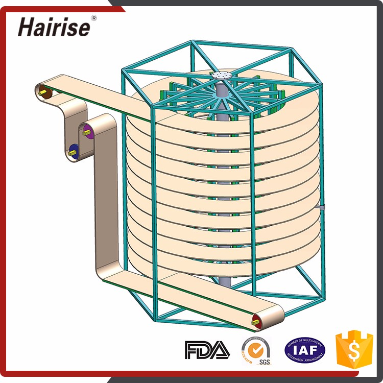 High quality stainless steel screw Spiral Cool Spiral Cool Conveyor Price