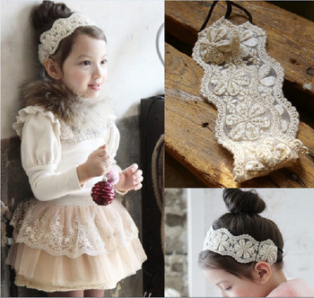 MS70044W Korean style girls lace hair band