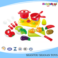 Preschool educational plastic kids baby cutting fruit toys