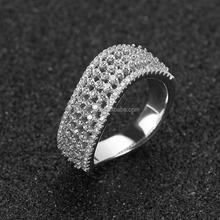 Guangzhou jewelry plaza real 925 silver low price per gram fancy ring for party