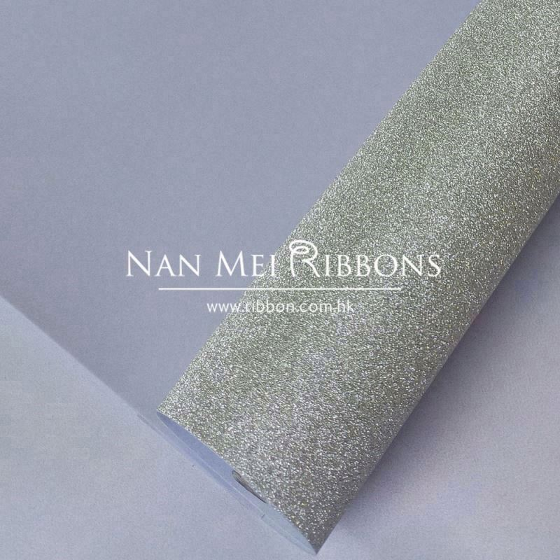 Custom high quality shell grey embossed packing used glitter sparking film