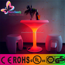Multi changement de couleur table de bar éclairage en plastique dur led éclairage permanent table tasse