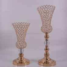Hot cake! new design crystal flower stand for table decoration