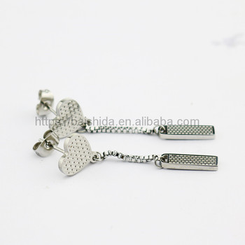 fashion medical steel chain tassel drop earring jewelry for women
