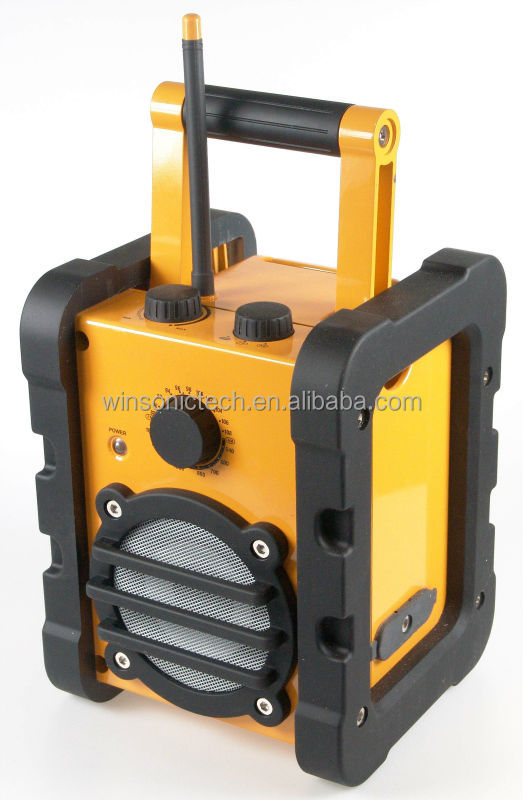 Water-Proofed and Anti-Shock Heavy Duty Radio with Bluetooth