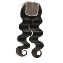 Closure Unprocessed Human Hair Lace Closure with Baby Hair Middle Part Closure(8 inch)