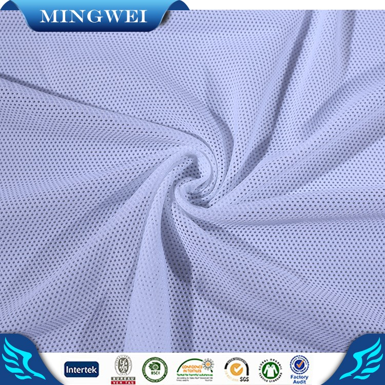 Garment Factory China Soft Recycled Polyester Mesh Fabric