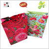 Luxury Rose Decoration Valentine Paper Shopping Bag