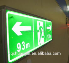 Low power led traffic safety emergency evacuation indication electric sign board for tunnel