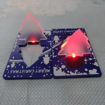LED mini Christmas tree Card Torch