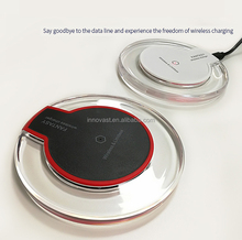 2018 New design ABS portable wireless charge fast charging pad for smartphone