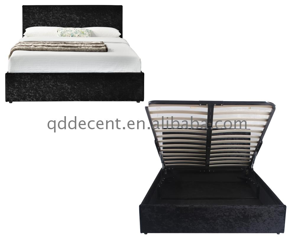 small cube cake modern Black Crushed Velvet Gas Lift Storage Bed for outdoor activities