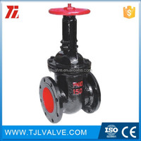 Cast iron metal seat 6 inch cast iron water gate valve ce cer valve