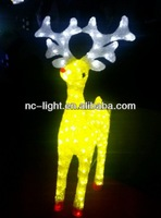 3D LED led solar light led christmas acrylic deer motif light