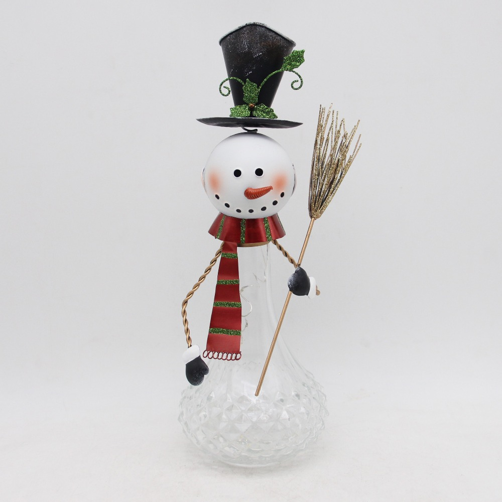 metal snowman for home decoration, tabletop decor