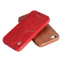 For sale leather mobile case for iphone 5s slim phone flip cover case stand case