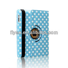360 Rotating PU Wake/Sleep Leather polka dot Case Skin Cover for Apple Ipad Air 5 5th Gen