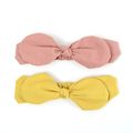 Solid Color Yellow Blush Headband Baby Girl Turban Hairband Cute Fancy Head Wrap