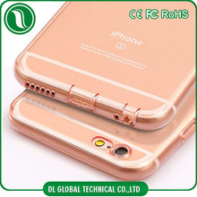 China suppliers transparent tpu mobile phone cover for iphone 6 case protective camera lens and charge hole