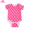 Wholesale short sleeve plain baby cotton rompers for newborn boy girl summer clothing
