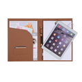 Executive Leather Padfolio A4 File Folder With Charging Power Bank