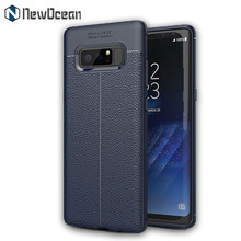 New design litchi pattern Soft Silicone TPU mobile cover case for Samsung Galaxy Note 8 Lichee case