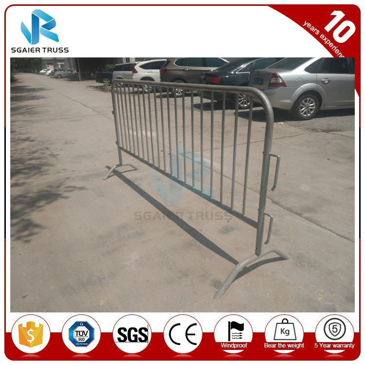 Portable galvanized Steel Traffic Crowd Control Barrier for Car Road