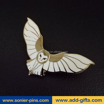 sonier-pins gold plated bird hard enamel lapel pins manufacturers in China and free design and Fast delivery