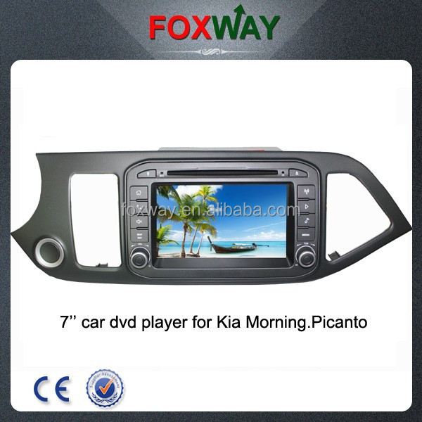 Wholesale 7Inch double din car radio dvd car with gps for picanto morning