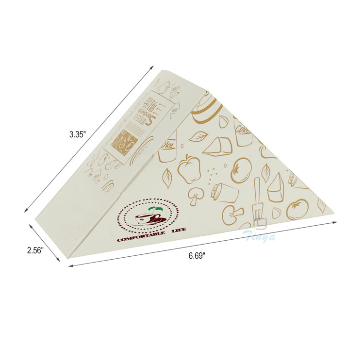 Fast food cardboard triangle paper sandwich box