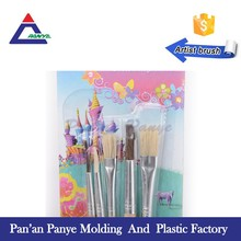 Free sample cute 5pcs sable makeup brush set for kids