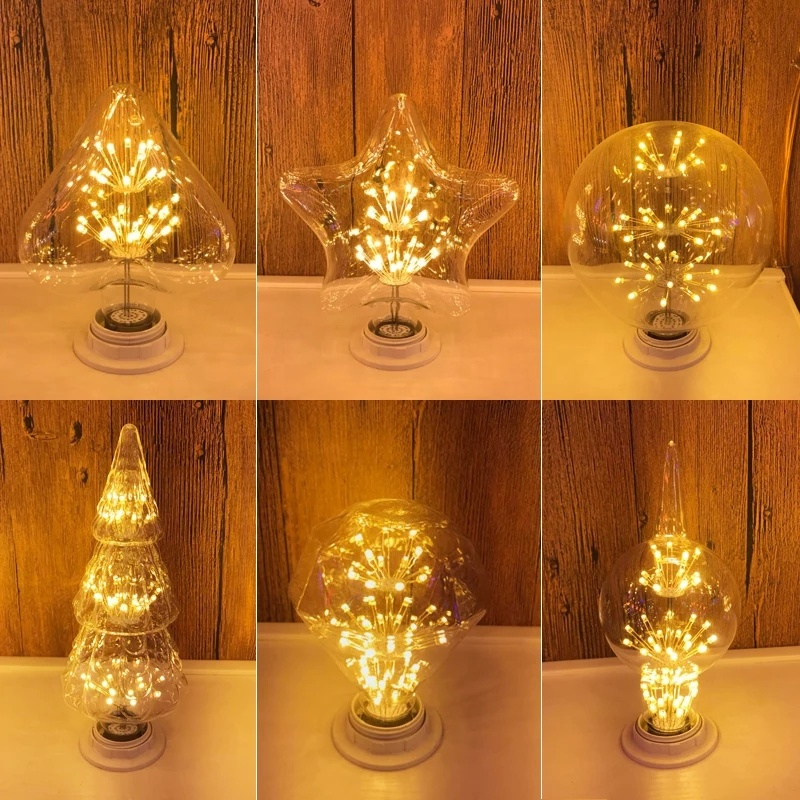 220v 110v Vintage Edison Bulbs E27 <strong>LED</strong> <strong>Light</strong> ST64 G80 G95 G125 T30 Retro <strong>led</strong> Firework bulb <strong>Light</strong> For indoor decoration